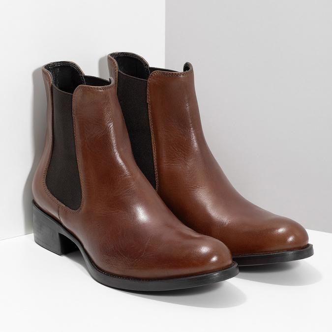 Lederschuhe im Chelsea-Stil bata, Braun, 594-4448 - 26