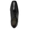 Schwarze Lederhalbschuhe bata, Schwarz, 824-6724 - 19