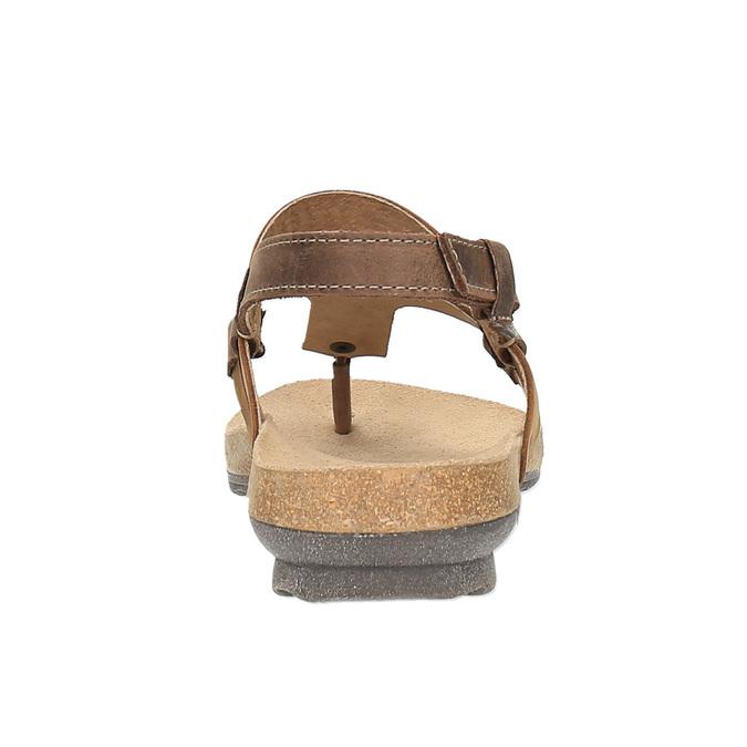 Damensandalen aus Leder weinbrenner, Braun, 566-4101 - 17