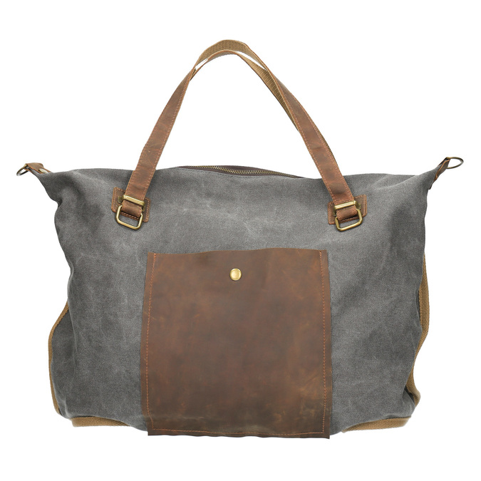 XXL-Tasche mit Gurt weinbrenner, Grau, 969-2620 - 19