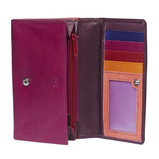 Damen-Geldbörse aus Leder bata, Rot, 944-5156 - 15
