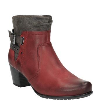 Damen-Knöchelschuhe mit wärmendem Futter bata, Rot, 696-5617 - 13
