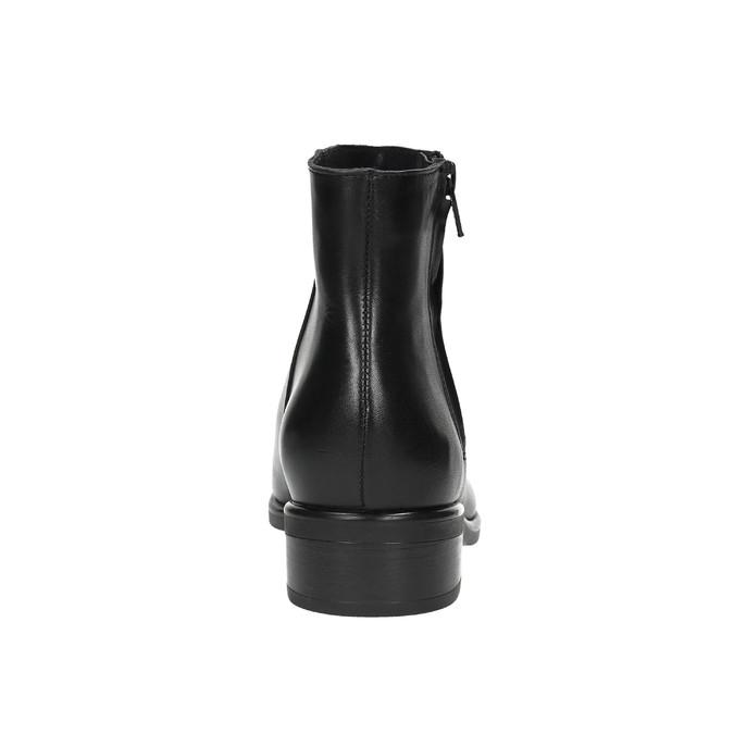 Schwarze Knöchelschuhe aus Leder mit Reissverschluss bata, Schwarz, 594-6518 - 17