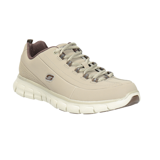 Damen-Sneakers aus Leder skechers, Beige, 503-3323 - 13