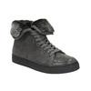 Knöchelhohe Leder-Sneakers mit Fell bata, Grau, 593-2601 - 13