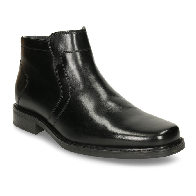 Knöchelschuhe aus Leder mit wärmender Fütterung, Schwarz, 894-6641 - 13