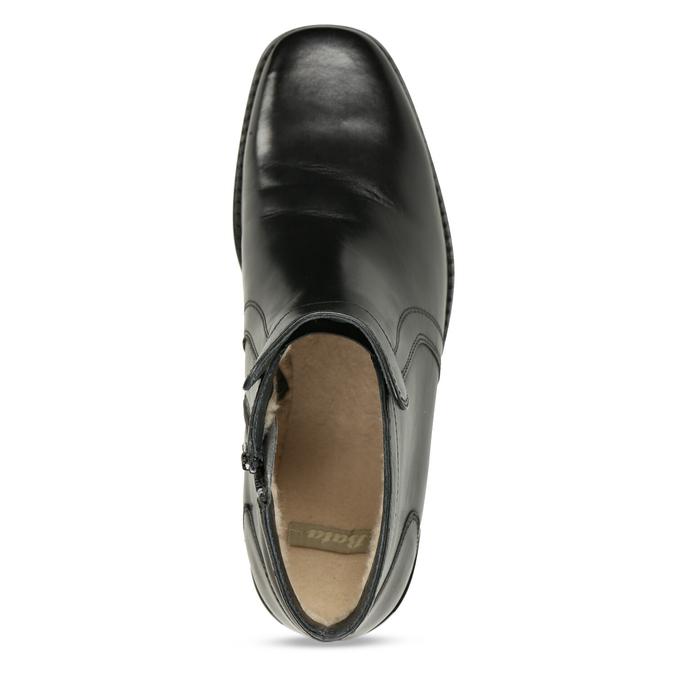 Knöchelschuhe aus Leder mit wärmender Fütterung bata, Schwarz, 894-6641 - 17