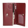 Damen-Geldbörse aus Leder, Rot, 944-5357 - 15