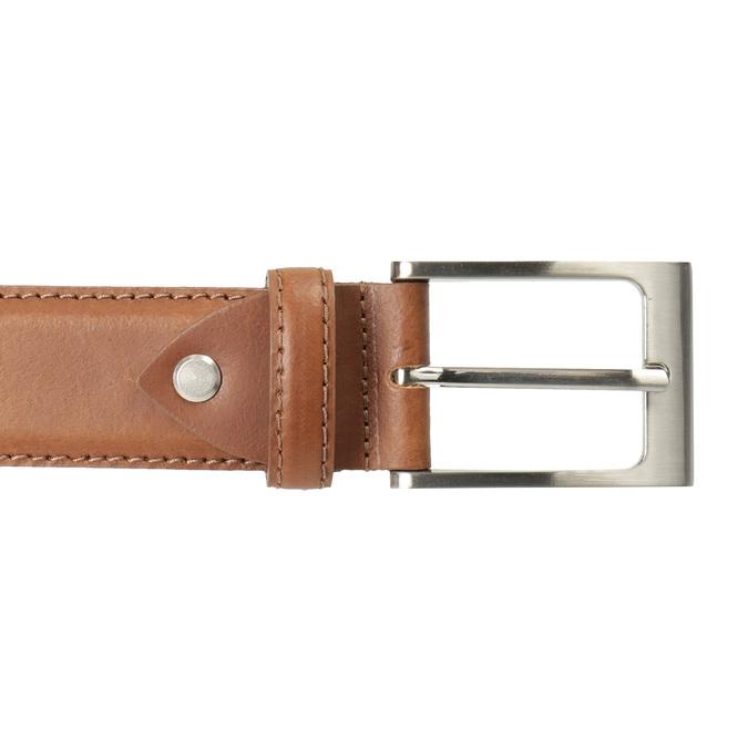 Brauner Herrengürtel aus Leder, Braun, 954-4153 - 26