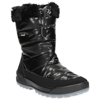 Schwarze Schneestiefel mit Fell weinbrenner, Schwarz, 591-6617 - 13