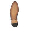 Lederhalbschuhe mit Muster bata, Braun, 826-3813 - 26