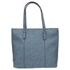 Blaue Handtasche mit perforiertem Detail bata, Blau, 961-9711 - 19