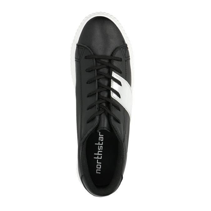 Schwarze Sneakers mit silbernem Streifen north-star, Schwarz, 521-6605 - 19