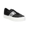 Schwarze Sneakers mit silbernem Streifen north-star, Schwarz, 521-6605 - 13