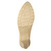 Lederpumps mit niedrigem Absatz bata, Beige, 626-8639 - 17