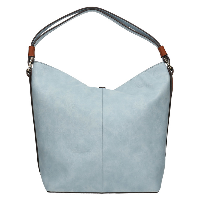 Blaue Handtasche im Hobo-Stil bata, Blau, 961-9705 - 19