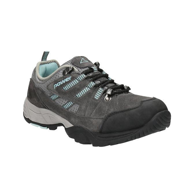 Damen-Outdoor-Schuhe aus Leder power, Grau, 503-2118 - 13