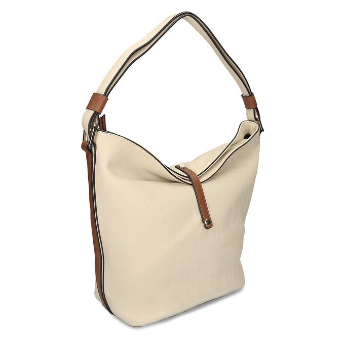 Handtasche im Hobo-Stil bata, Beige, 961-8705 - 13