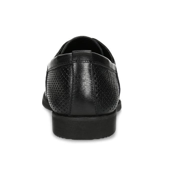 Lederhalbschuhe mit Perforation bata, Schwarz, 854-6601 - 15