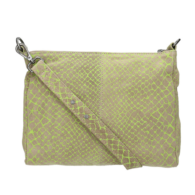 Damen-Crossbody-Handtasche aus Leder fredsbruder, Grűn, 963-7031 - 26