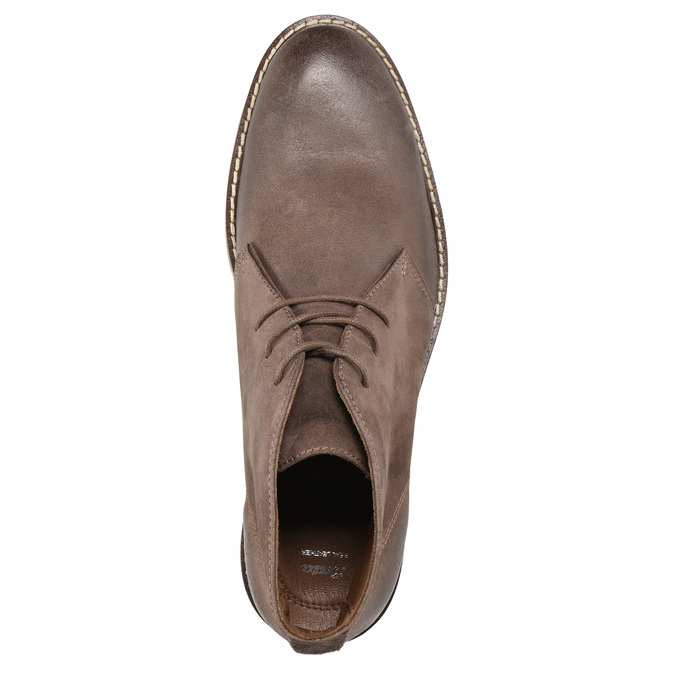 Knöchelschuhe aus Leder bata, Braun, 826-4600 - 19