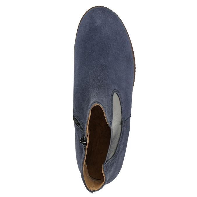 Stiefeletten aus geschliffenem Leder gabor, Blau, 613-9013 - 26