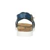 Damensandalen aus Leder weinbrenner, Blau, 566-9628 - 17