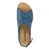 Damensandalen aus Leder weinbrenner, Blau, 566-9628 - 19