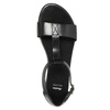 Schwarze Sandalen aus Leder bata, Schwarz, 564-6600 - 19