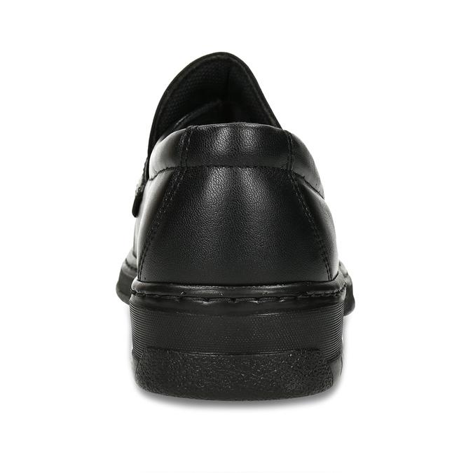 Herren-Mokassins aus Leder mit Steppung pinosos, Schwarz, 814-6624 - 15