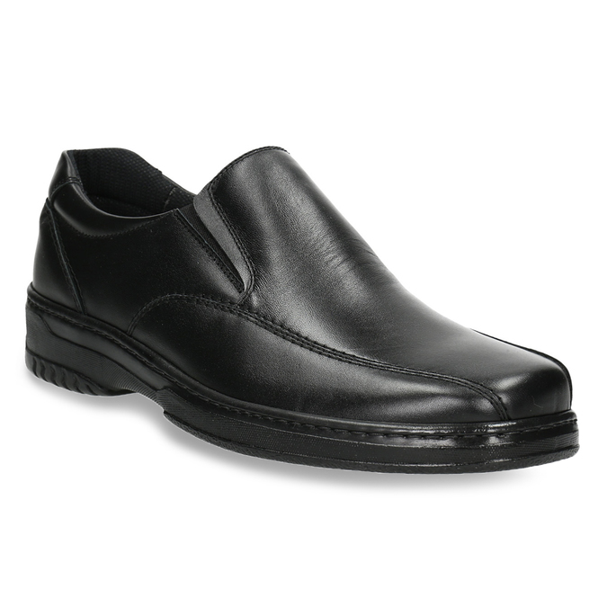 Herren-Mokassins aus Leder pinosos, Schwarz, 814-6622 - 13