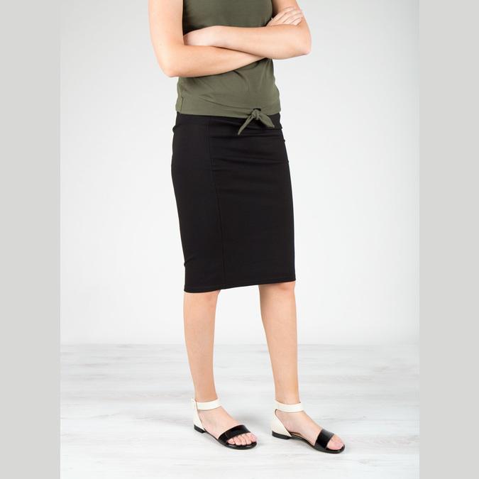 Sandalen aus Lackleder bata, Schwarz, 568-6606 - 18