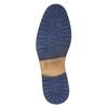 Knöchelschuhe aus Leder mit Reissverschluss bata, Blau, 826-9911 - 19