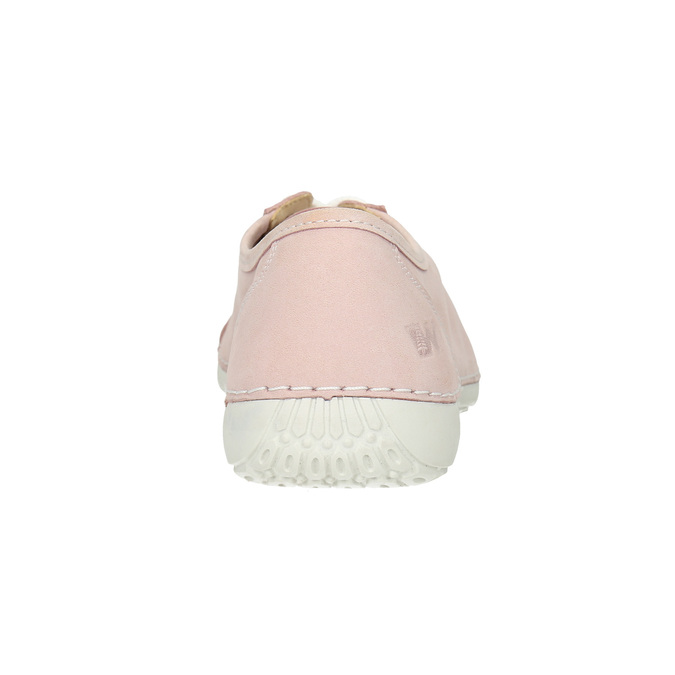 Damen-Sneakers aus Leder weinbrenner, Rosa, 526-5644 - 16