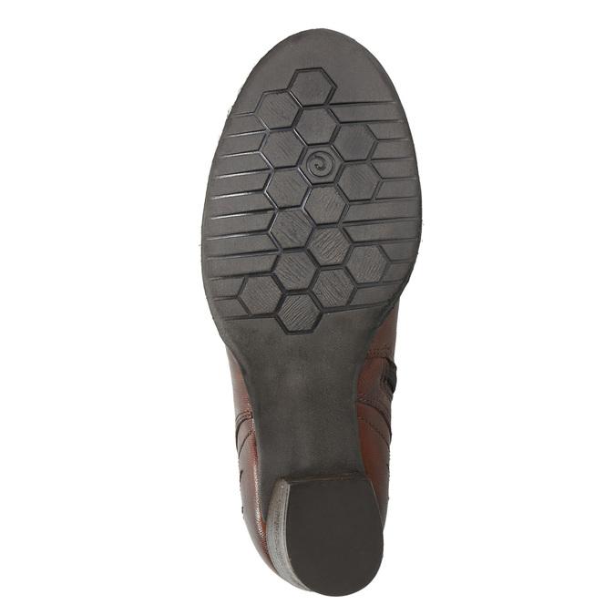 Lederstiefeletten bata, Braun, 696-4626 - 19