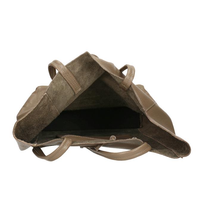 Damen-Lederhandtasche mit Schleife bata, Braun, 964-2122 - 15