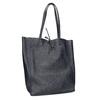 Damen-Shopper-Handtasche aus Leder bata, Blau, 964-9122 - 13