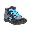 Knaben-Sneakers aus Leder bubblegummer, Blau, 113-9601 - 13