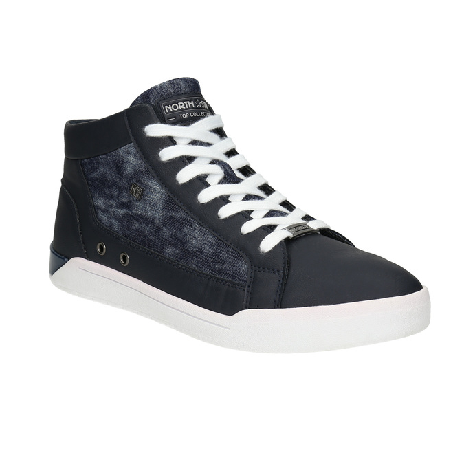 Knöchelhohe Sneakers mit Denim-Details north-star, Blau, 841-9609 - 13