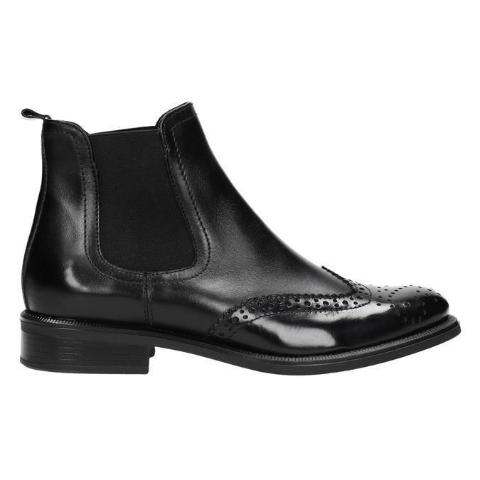 Damen-Chelsea-Boots aus Leder bata, Schwarz, 594-6638 - 15