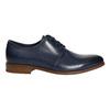 Blaue Lederhalbschuhe bata, Blau, 826-9680 - 15