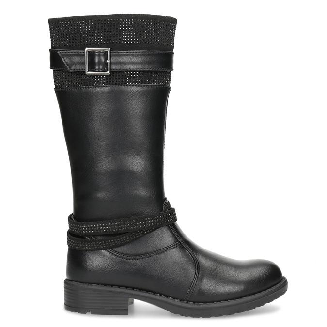 Schwarze Mädchenstiefel mini-b, Schwarz, 391-6655 - 19