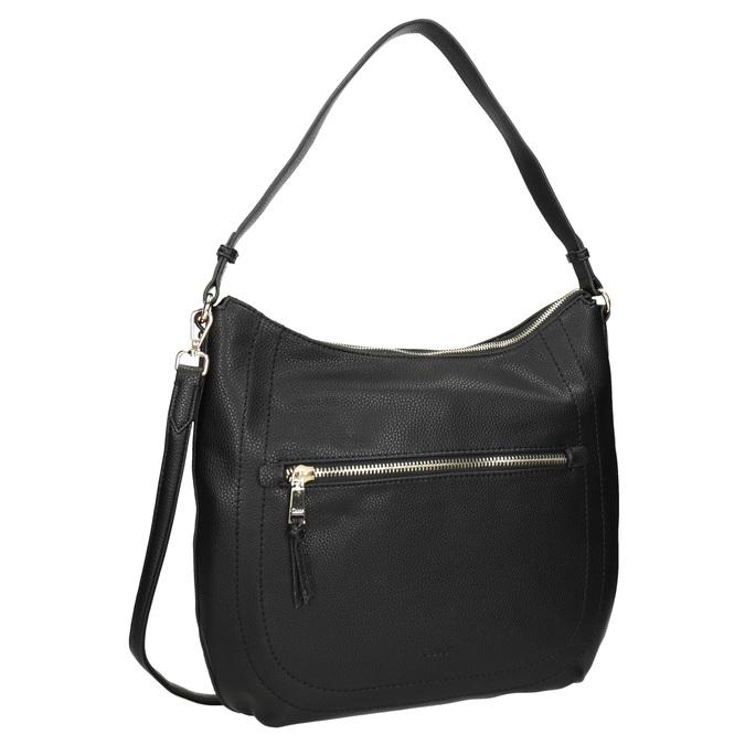 Schwarze Damenhandtasche mit Gurt gabor-bags, Schwarz, 961-6061 - 13