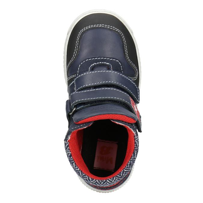Knöchelhohe Sneakers aus Leder mini-b, Blau, 214-9203 - 15