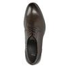 Braune Lederhalbschuhe im Derby-Look bata, Braun, 824-4618 - 26