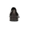 Braune Lederhalbschuhe im Derby-Look bata, Braun, 824-4618 - 17