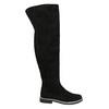 Overknee-Stiefel aus geschliffenem Leder bata, Schwarz, 593-6605 - 15
