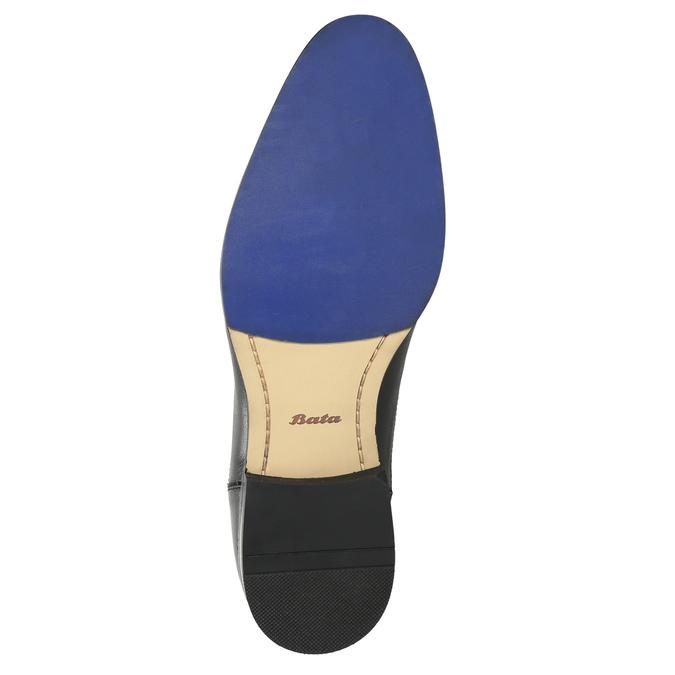 Lederhalbschuhe mit blauer Steppnaht bata, Schwarz, 826-6915 - 19