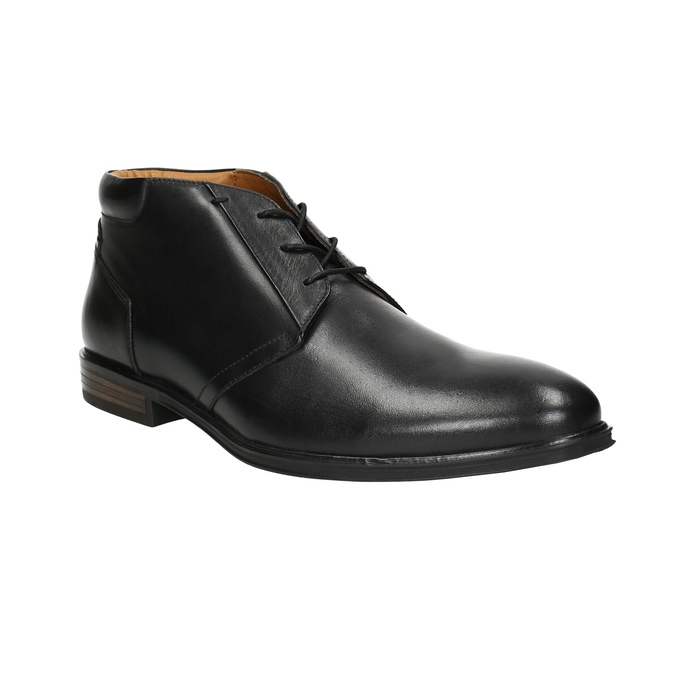 Herren-Knöchelschuhe aus Leder bata, Schwarz, 824-6913 - 13