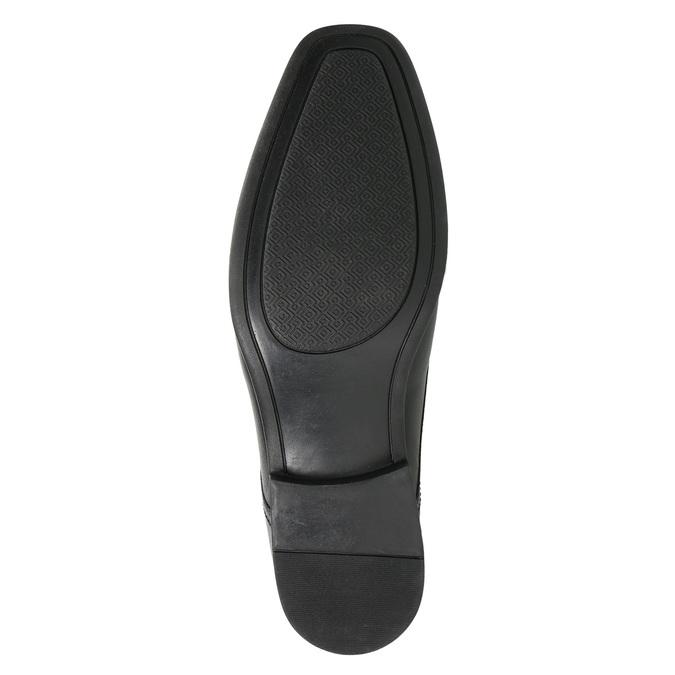 Schwarze Lederhalbschuhe bata, Schwarz, 824-6600 - 19